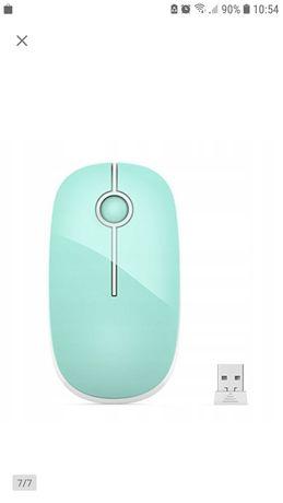 Nowa Mysz myszka komputerowa PC bezklikowa cicha Jelly Comb 2,4 ghz
