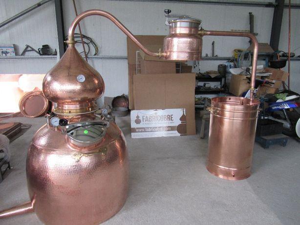 Alambique para destilação gim todo fabricado em cobre reforçado