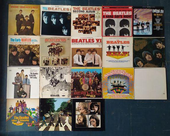 Весь the Beatles 19 пластинок винил первопрессы США дискография битлз