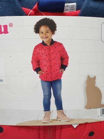 Nowa lekka pikowana kurtka dziewczęca termiczna 116 Lupilu 5-6 płaszcz
