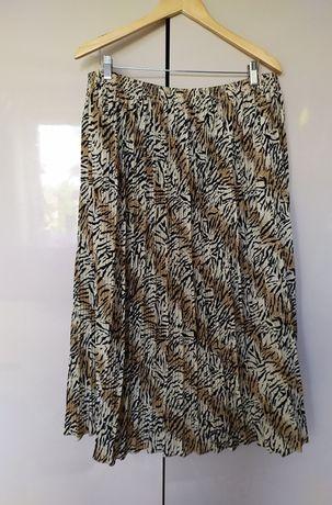 spódnica plisa zwierzęcy print 48/50/52