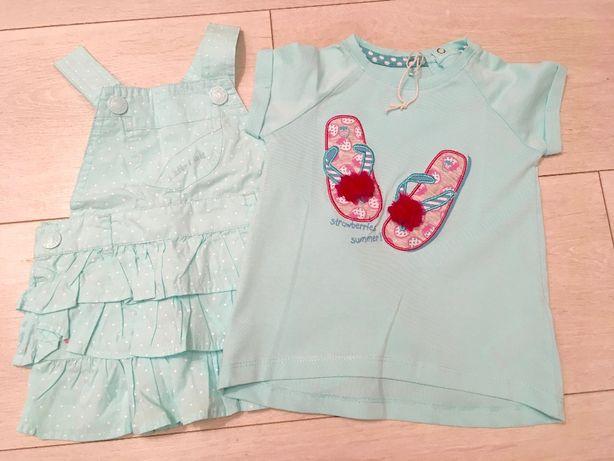 NOWY_SMYK_komplet sukienka i koszulka rozm 68