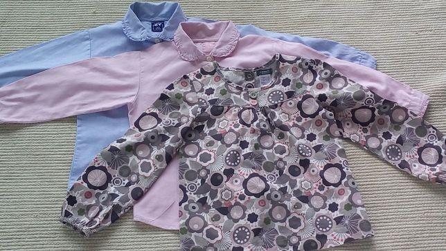 3 Blusas menina T. 4/5 anos
