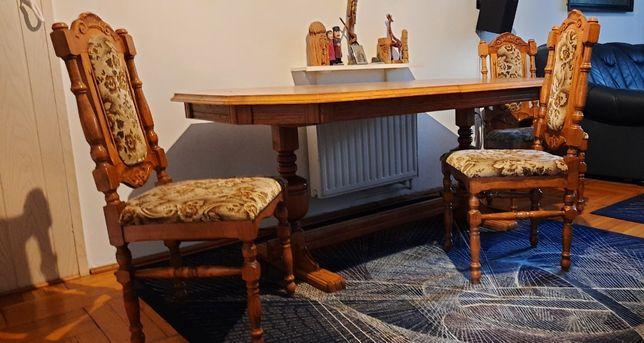 Stół stylowy + 10 krzeseł