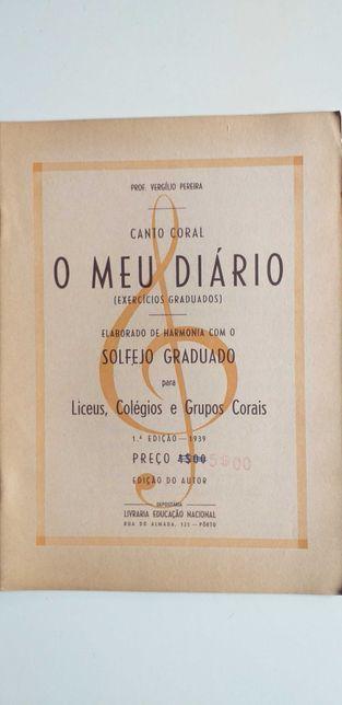 O Meu Diàrio (Exercícios Graduados de Solfejo) - Vergilio Pereira