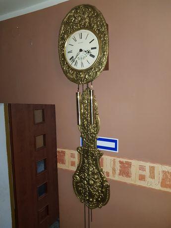 Bardzo Stary Duży Śliczny Mosiężny  XIX w  Zegar !!!