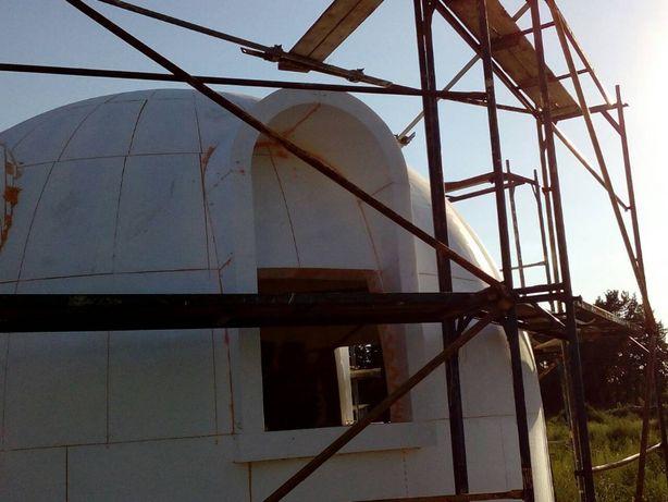 Домокомплект купольного дома. Конструкции из пенополстирола.