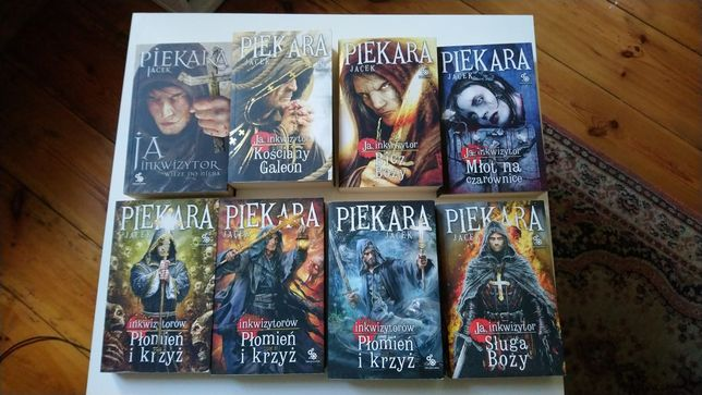 Jacek Piekara 8 książek Ja inkwizytor cykl / młot na czarownice bicz