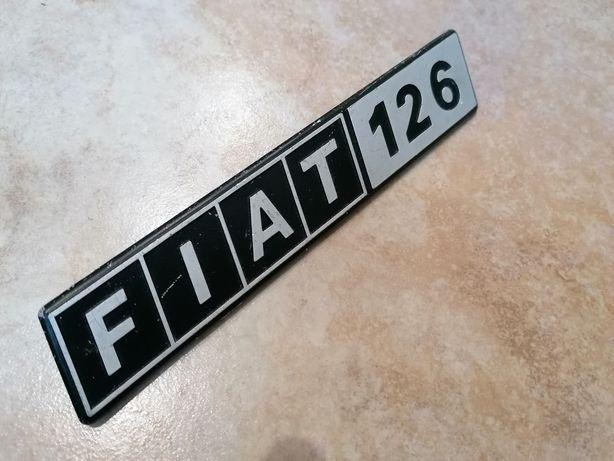 Emblemat Fiat 126 znaczek aluminiowy maluch