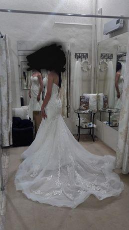 Suknia ślubna STELLA YORK 6654 r 34 CUDOWNA! Rybka, bogato zdobiona