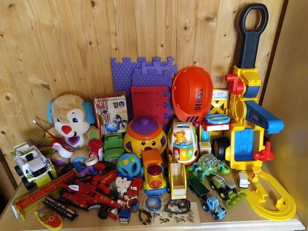 Іграшки Лот. Кран. Машинки. Синій трактор. Комбайн. Паравозик