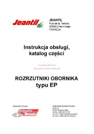 Katalog części Rozrzutnik obornika Jeantil typ EP