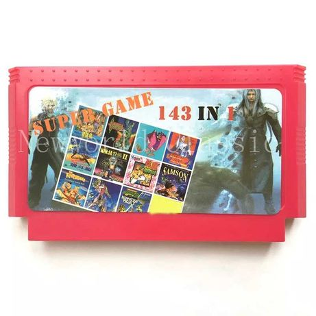Супер-сборник 143 игры-хита для приставки Денди Dendy, новый картридж