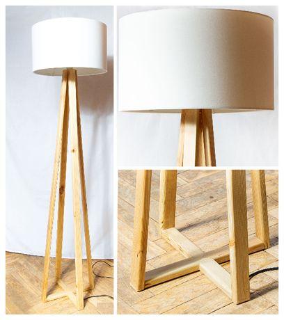 Lampa klasyczna stojąca podłogowa, salon, sypialnia, stylowa, abażur