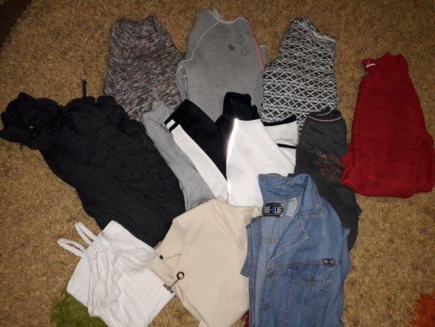 Вещи одежда одним лотом пакетом джинсы кардиган кофта майка платье