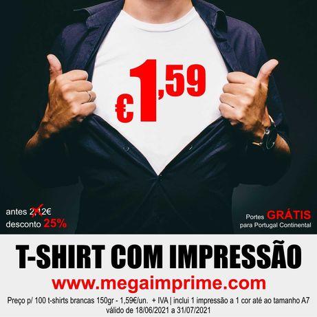T-shirts c/ impressão desde 1,59€