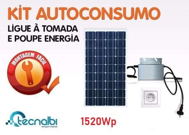 Kit Autoconsumo Fotovoltaico 1520Wp Monofásico