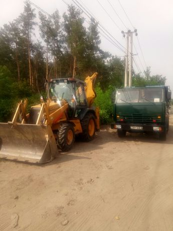 доставка песка грунта щебня и вывоз мусора услуги екскаватора копка ко