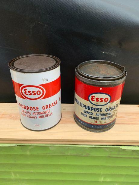 latas oleo Esso vintage