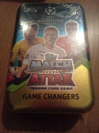 Nowa duża puszka karty piłkarskie