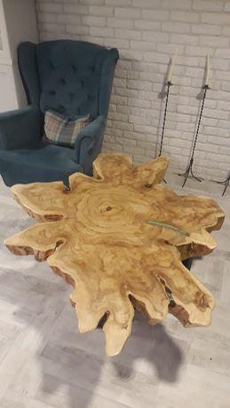 STÓŁ, Ława, Stolik kawowy, drewniany, półmat
