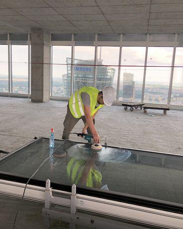 Polerowanie szyb okiennych usuwanie rys Polerowanie parapetów