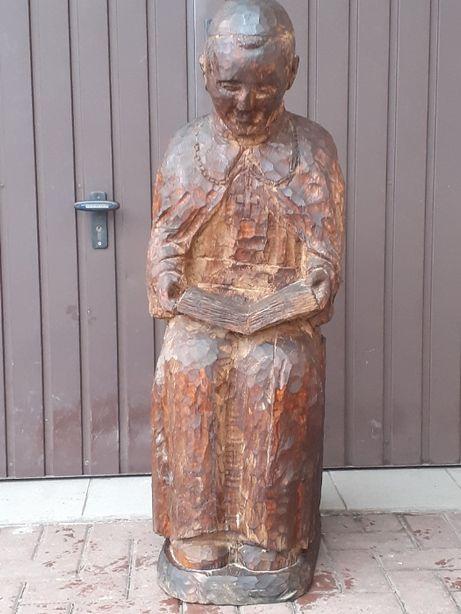 Figura Jan Paweł II-dąb-110cm.-kolekcja