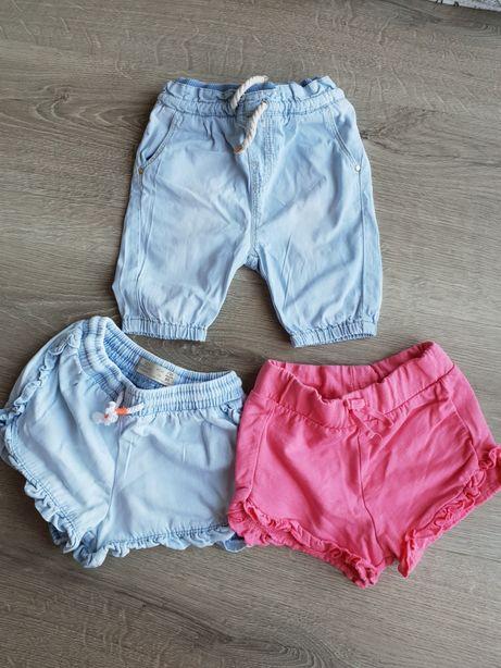 3 pary spodni Zara HM 80