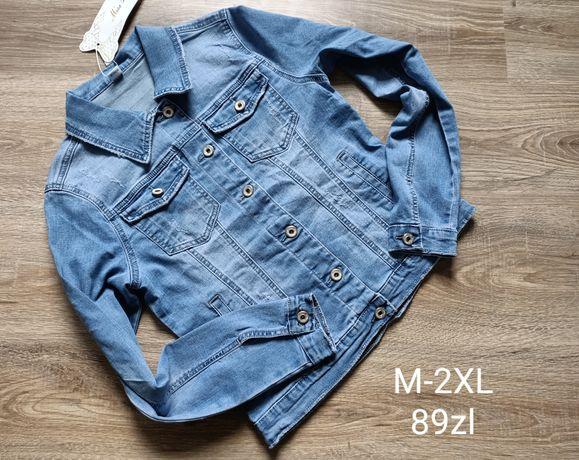 Katana jeansowa jasny jeans M L XL 2XL
