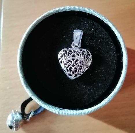 Zawieszka srebrną 925 duże ażurowe serce na wzór Pandor