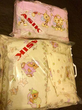 Комплект asik защита карман одеяло подушка простынь и сменный комплект
