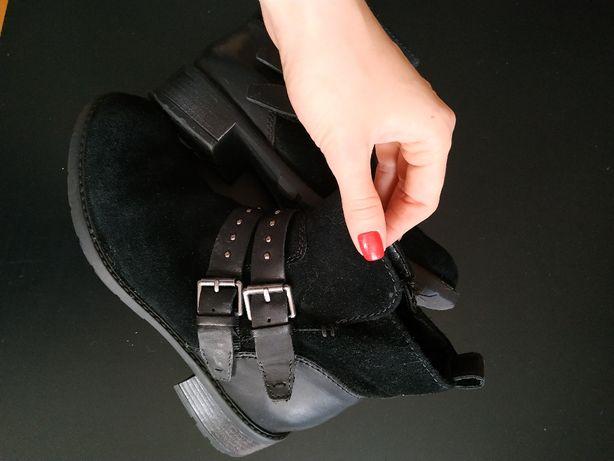Ботинки Clarks замша оригинал 37 размер состояние новых стиль Zara