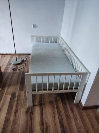 Łóżeczko dziecięce z materacem 160x70 białe Ikea  okazja