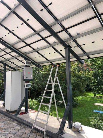 Konstrukcja gruntowa pod solary panele fotowoltaiczne wiata zadaszenie