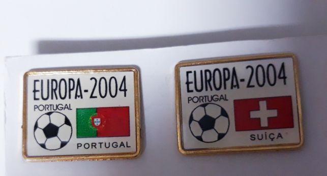 Coleção 16 Pin's  Europeu futebol 2004