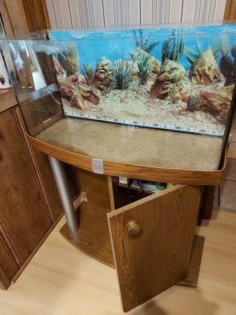 akwarium 96 litrów PANORAMOCZNE + szafka uszkodzone terrarium