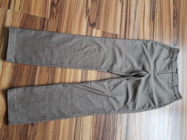 Spodnie w kratkę Zara wełna  34