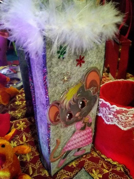 Новогодняя сумочка для подарков.Из фетра.Хенд Мейд Константиновка - изображение 1