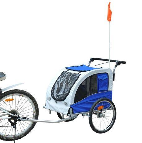 NOWA Przyczepka rowerowa jogger dla psa niebieska