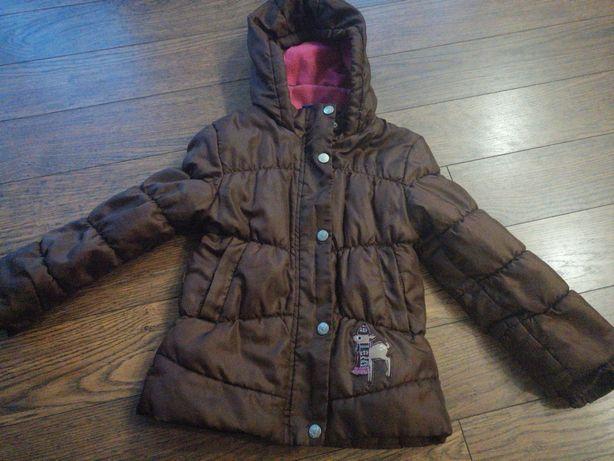 Zimowa kurtka dziewczęca 110cm