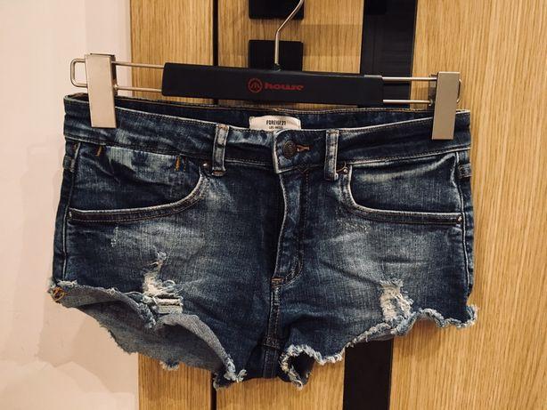 Stylowe jeansowe szorty krótkie spodenki W27 36 S Forever 21