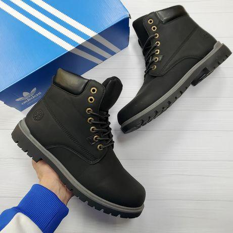 Ботинки мужские зимние 40 41 42 43 44 45 эко нубук Nike на меху adidas