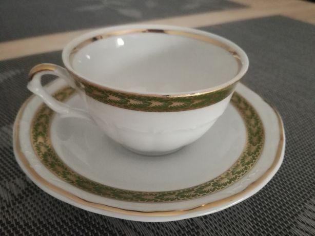 Porcelana   Wałbrzch   6szt kawa   Filiżanka + talerzyk