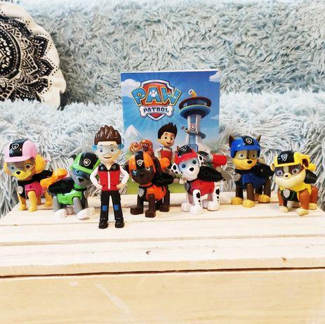 PSI PATROL duże figurki ruchome elementy 7 sztuk