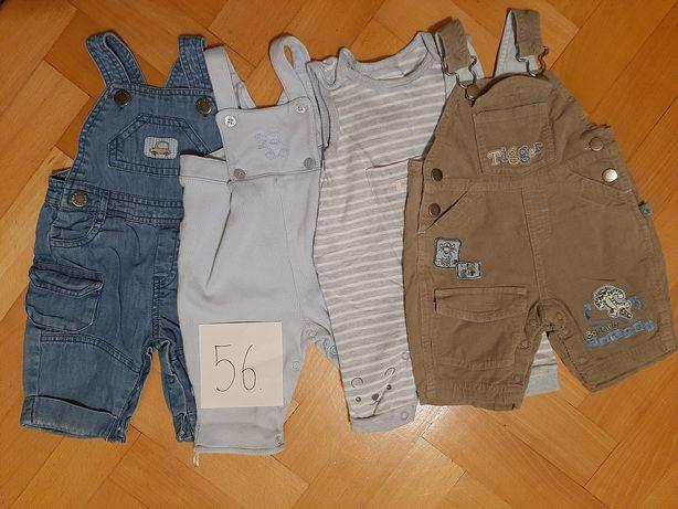 Zestaw 4szt. spodnie ogrodniczki rozmiar 56