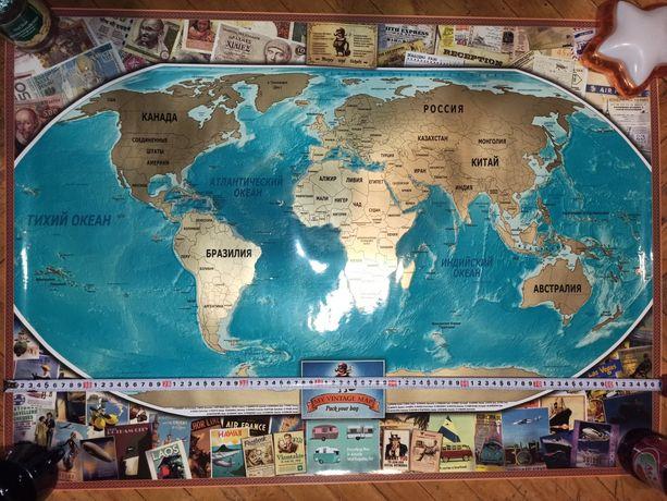 Подарок, скретч-карты для путешественников
