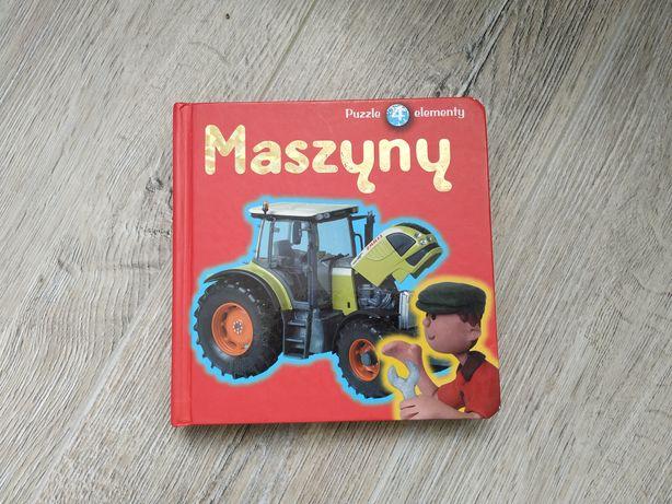 Maszyny książeczka z puzzlami 4 elementy puzzle dla najmłodszych