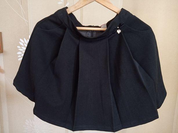 Черная юбка с карманамидля девочки в школу 8-9 лет размер 146