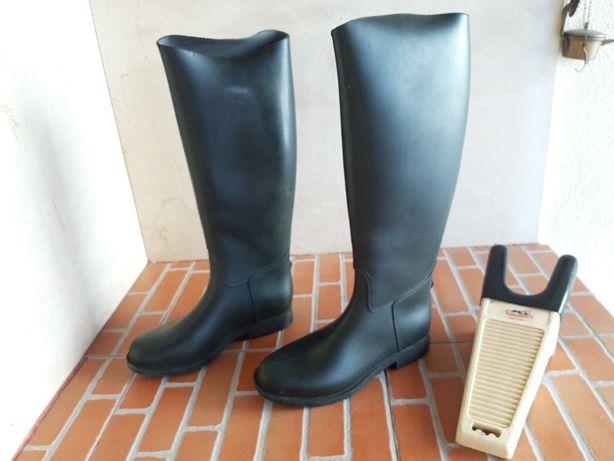 Equitação botas e calças