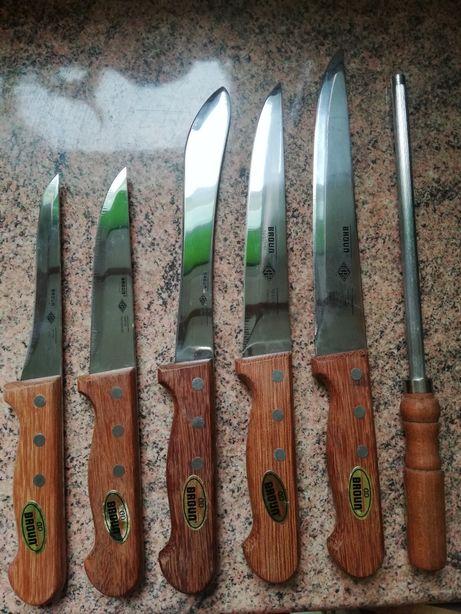 Noże kuchenne 5 sztuk, nowe nigdy nie używane.
